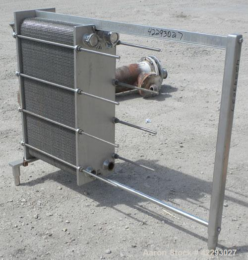 Used- Cherry Burrell Thermaflex Plate Heat Exchanger, model 217SBL, 316 stainless steel. Approximately 247 square feet, 20.8...