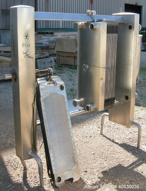 """Used- Creamery Package Plate Heat Exchanger. approximately 105.4 square feet, 316 stainless steel. (43) 14"""" wide x 47"""" long ..."""