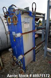 Used- Alfa Laval Plate Heat Exchanger, 720.88 Square Feet, Model M15-MFG. Approximate (110) 0.5mm stainless steel plates. Ra...