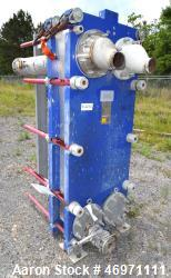 Used- Alfa Laval Plate Heat Exchanger, 195.60 Square Feet, Model Widegap200S-FG. (25) 0.80mm 316 Stainless steel plates, rat...