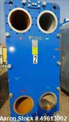 Used- Polaris Plate Heat Exchanger, Stainless Steel. Approximate 4,448.50 Square Feet. (330) Stainless steel plates. Rated 1...