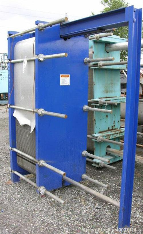 Used- Paul Mueller Plate and Frame Heat Exchanger, Model AT-80B-20, 1536 square feet, 304 stainless steel. (172) Approximate...
