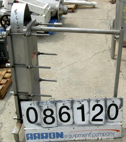 Used- Mueller Accu-Therm Plate Heat Exchanger, Model AT10S/SF-10, approximately 75 square feet, 304 stainless steel. (30) 31...