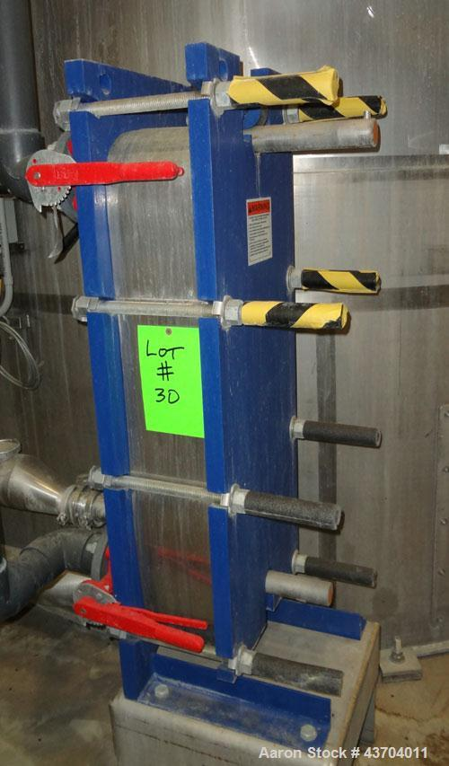 Used- Stainless Steel Mueller Plate heat exchanger, Model AT20 C-20