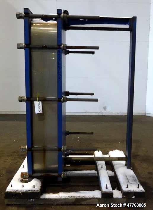 Used- Mueller Accu-Therm Plate Heat Exchanger, Approximate 700 Square Feet Surface Area, Model AT80-LB-20. Approximate (82) ...