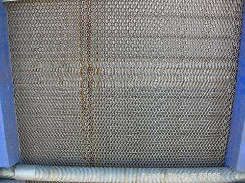 """USED: Mueller Accu-Therm plate heat exchanger, model AT80B20, approximately 1220 square feet. (137) 25"""" wide x 65"""" tall, 304..."""