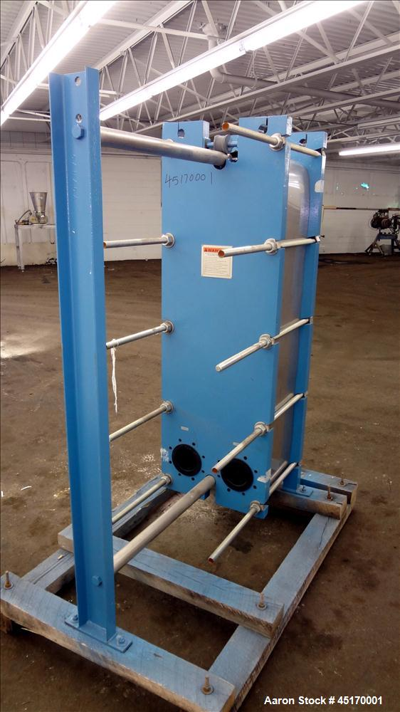 Used- Mueller Accu-Therm Plate Heat Exchanger, 486.2 Square Feet, Model AT40-F-2