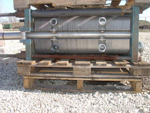 "USED: Schmidt plate heat exchanger, 572 sq ft, (143) 14"" wide x 48""long 316 stainless steel plates. Carbon stainless plate e..."