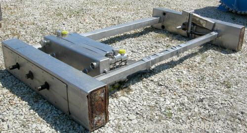 """Used- St Regis Plate Heat Exchanger Frame Only. 2-1/2"""" inlet/outlet. Stainless steel clad frame."""