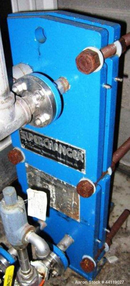 Used-Superchanger, 20.6 Sq. Ft. Plate Type Heat Exchanger, 150 PSI @ 300 Degrees F, Model UX-028-UJ-24,Serial SC 1888, Natio...