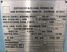 Used- Alfa Laval Thermal Plate Exchanger, 89.99 Square Feet, Model M10-MFG. (38) 0.40 mm thick 304 stainless steel plates. D...