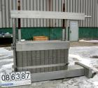 Used- APV Crepaco Plate Heat Exchanger, Model CR5, 1410 Square Feet, 304 Stainless Steel. (98) approximately 16
