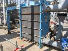 Used- Tranter PHE Plate Heat Exhanger, 3751 sq ft.  Stainless steel plates.  Model UFX-100-5-HP-347, Max: 100 psi @ 150 eg F...
