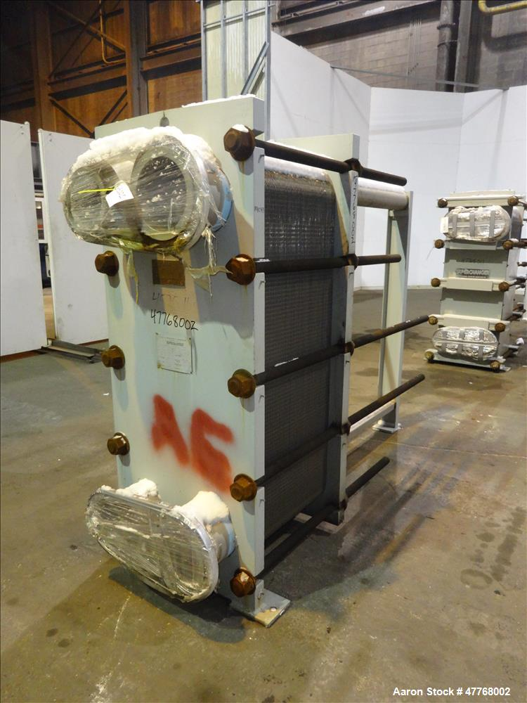 Used- Tranter Superchanger Plate Heat Exchanger, Approximate 878.8 Square Feet Surface Area, Model 06-T16-UP-146. Approximat...