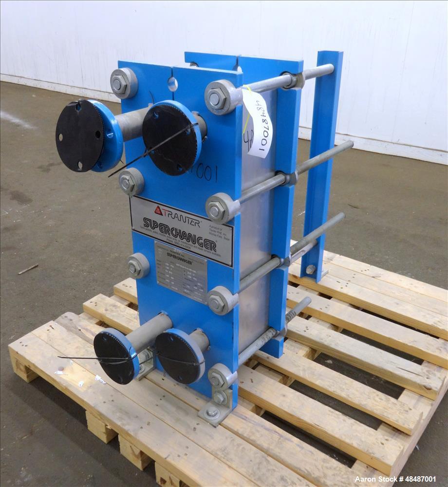 Used- Tranter Super Changer Plate Heat Exchanger, 142.41 Square Feet,  Model GCP