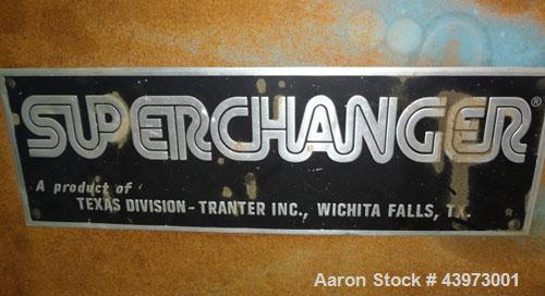 Used- Tranter Superchanger Plate Heat Exchanger, Model S-3-HP-76.  250.1 Square feet.  (76) 304 Stainless steel plates. Rate...