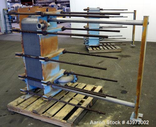 Used- Tranter Superchanger Plate Heat Exchanger, Model S-3-HP-76.  250.1 Square feet.  (76) 304 Stainless steel plates.  Rat...