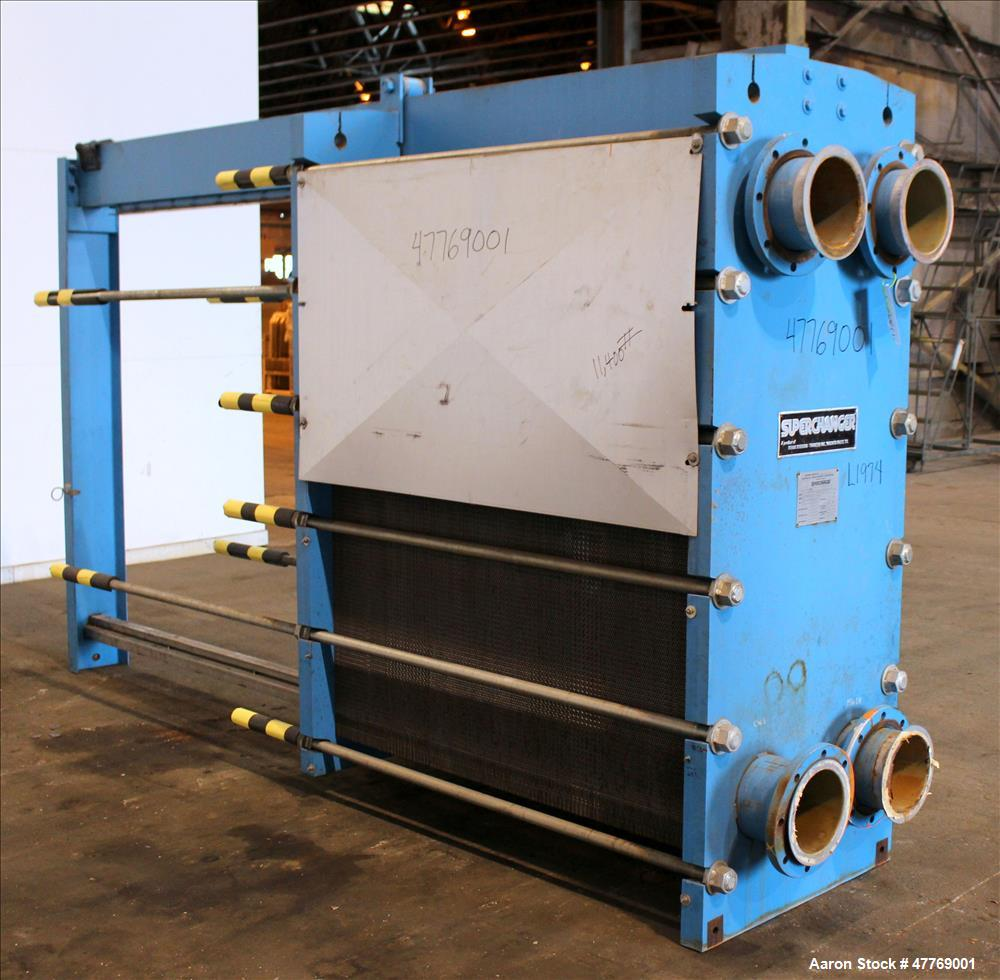 Used- Tranter Superchanger Plate Heat Exchanger, 4251 Square Feet Surface Area