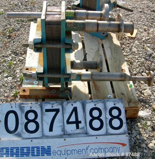 USED: Tranter Superchanger plate heat exchanger, model UX-056-UJ-24, 14 square feet, 316 stainless steel. (24) Approximately...