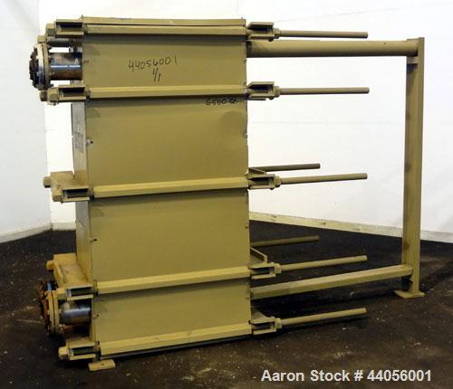 Used- Tranter Superchanger Plate Heat Exchanger, Model UX-496-UP-235