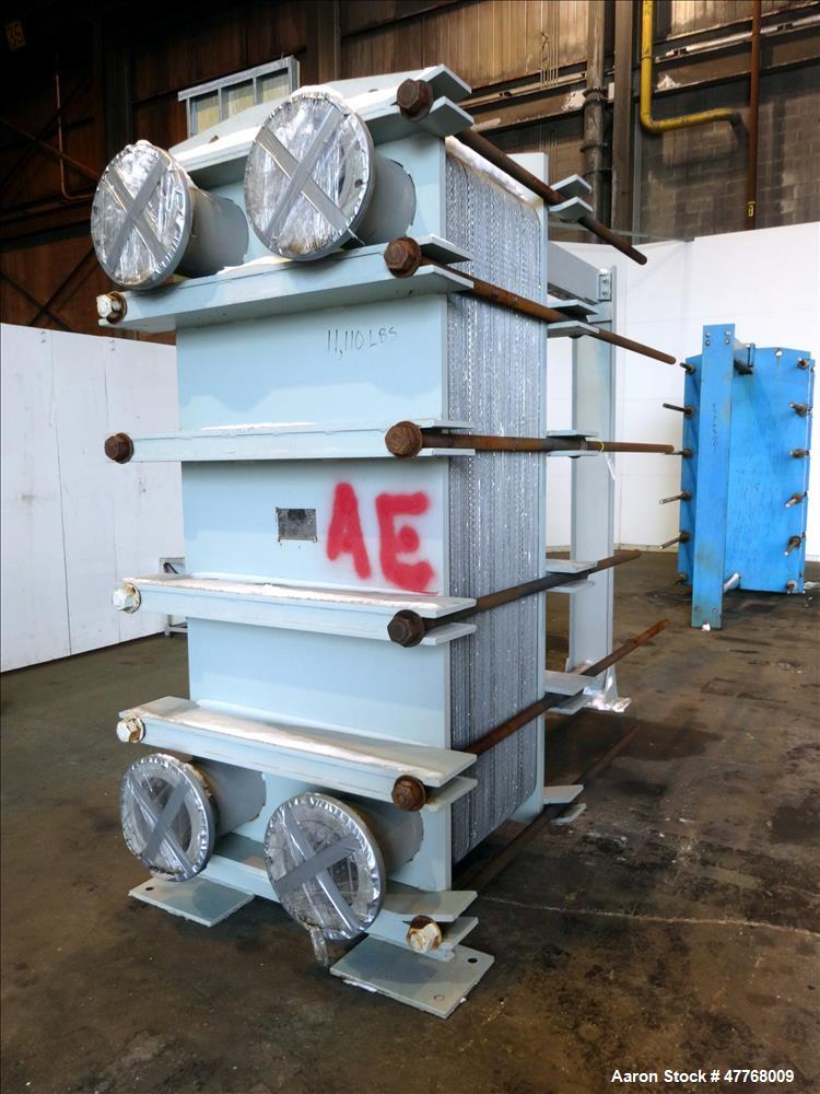 Used- Tranter Superchanger Plate Heat Exchanger, Approximate 3421.8 Square Feet Surface Area, Model UX-816-140. Approximate ...