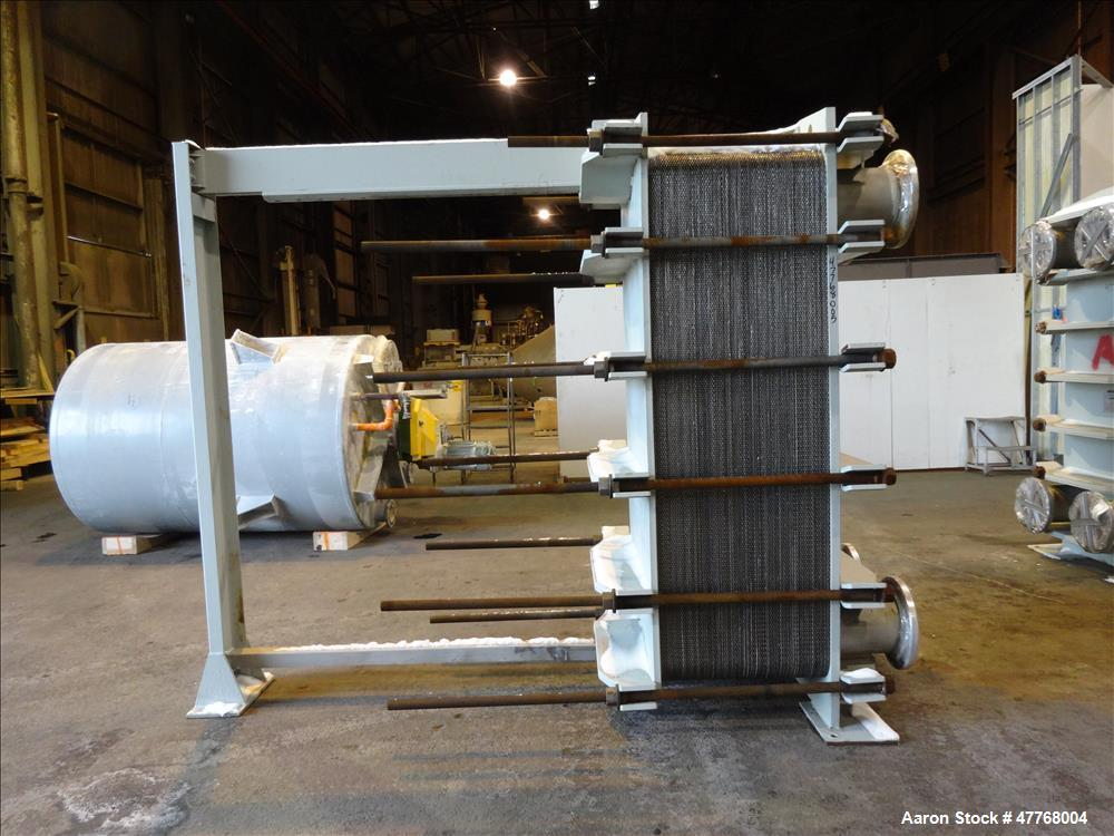 Used- Tranter Superchanger Plate Heat Exchanger, Approximate 3421.8 Square Feet Surface Area, Model UX-896-UP-189. Approxima...