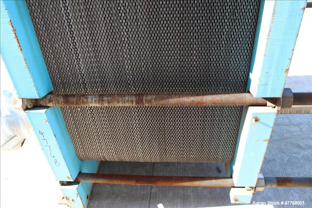 Used- Tranter UXP Series Superchanger Plate Heat Exchanger, Approximate 2506.94 Square Feet Surface Area, Model UXP-802-M-8-...