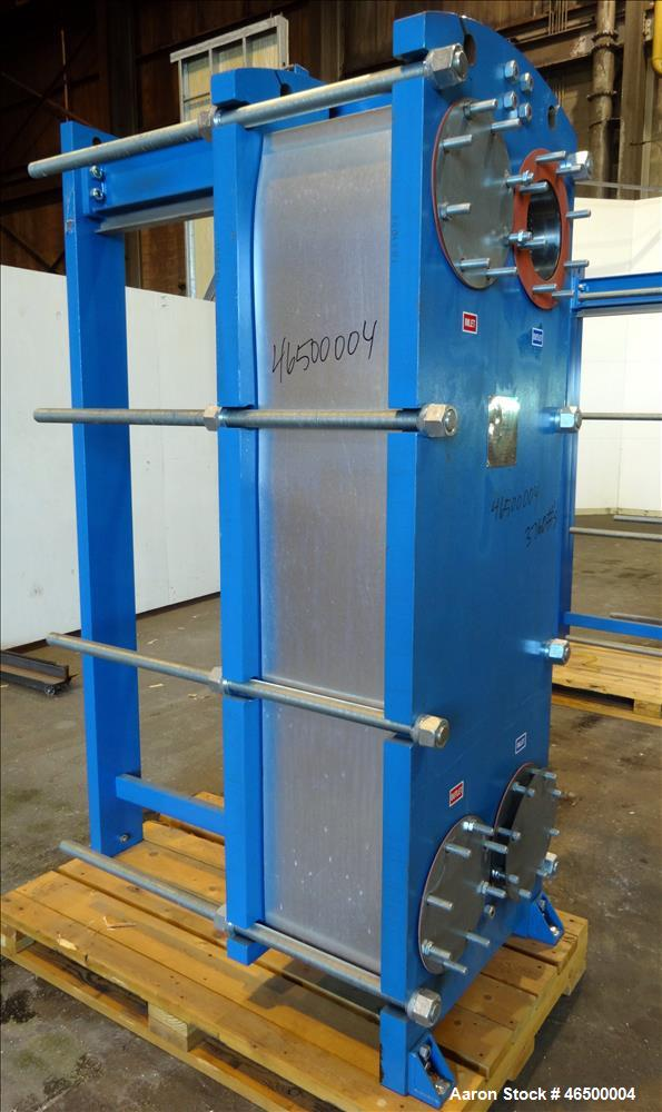 Used- WCR Incorporated Plate Type Heat Exchanger, Model WCR-A891M, 741.1 Square