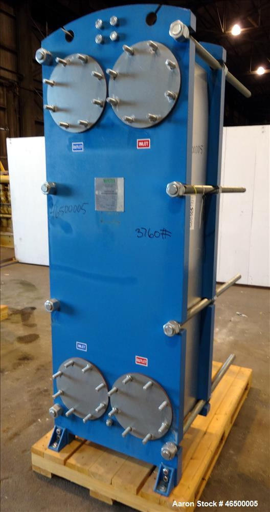 Used- WCR Incorporated Plate Heat Exchanger, Model WCR-A891M, 741.1 Square Feet
