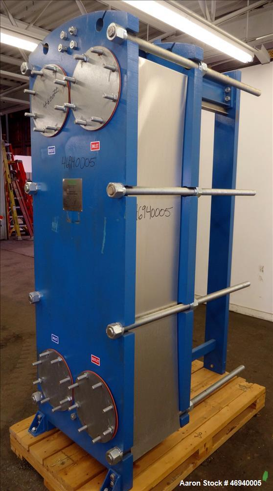 Unused- WCR Incorporated Plate Heat Exchanger, Model WCR-A891M, 741.1 Square Feet, 316 Stainless Steel, Vertical. (42) Appro...
