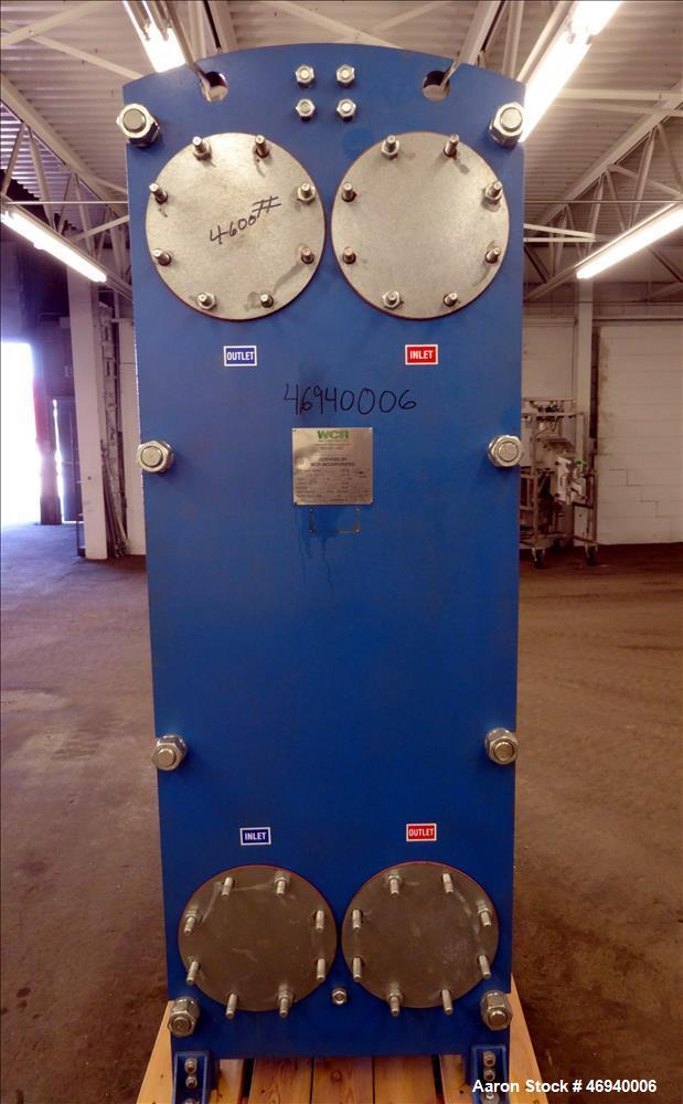 Unused- WCR Incorporated Plate Heat Exchanger, Model WCR-A891M, 741.1 Square Feet, 316 Stainless Steel, Vertical. (83) Appro...
