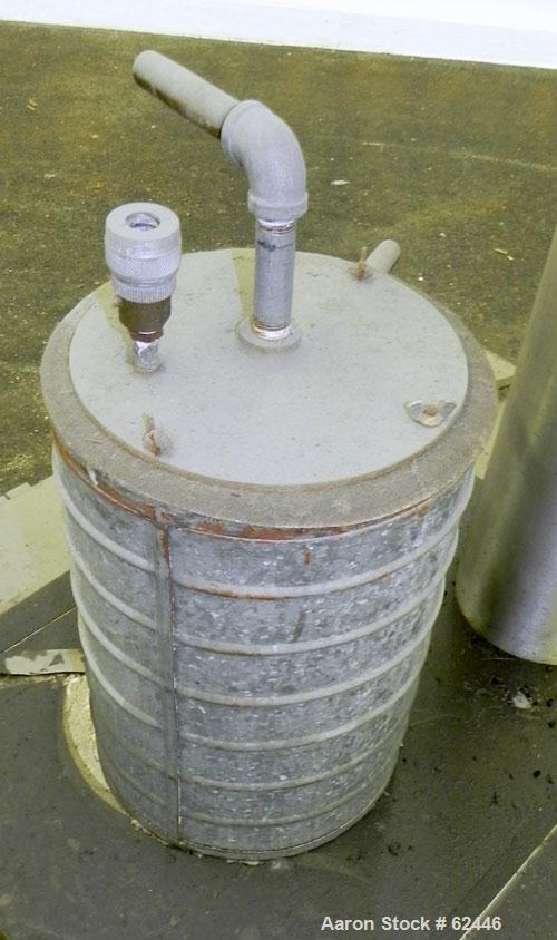Used- Alfa Laval Contherm Scrape Surface Heat Exchanger, Model 6X2