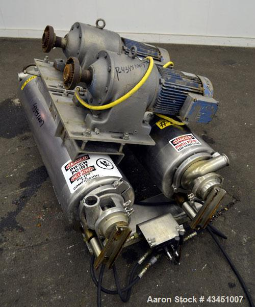 Used- Stainless Steel Alfa Laval Contherm Scraped Surface Heat Exchanger