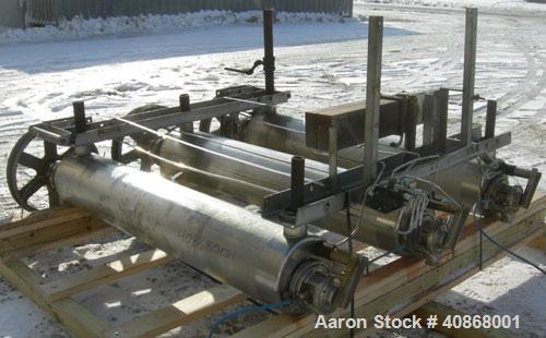 Used- Alfa Laval Contherm Vertical Scraped Surface Heat Exchanger System, 27 total square feet, 316 stainless steel. Consist...