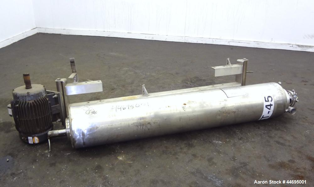 Used- Stainless Steel Alfa Laval Contherm Scraped Surface Heat Exchanger, Model 6X9