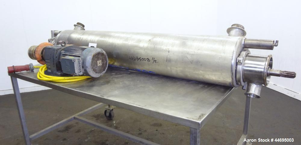 Used- Stainless Steel Alfa Laval Contherm Scraped Surface Heat Exchanger, Model