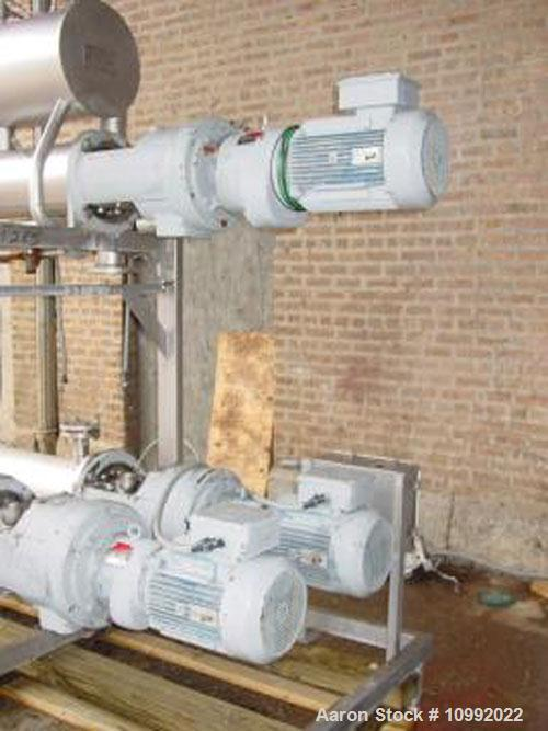 "Used-(3) 6"" x 72"" APV Scrape Surface Heat Exchangers, model 3HRT 672 (1 ammonia, 1 chilled water, 1 steam). 150 psi units wi..."