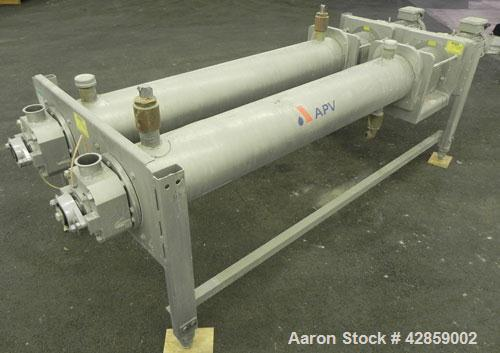 Used- APV Scraped Surface Heat Exchanger System, Consisting of: (2) APV scraped surface heat exchangers, model T884SSNN. 14....