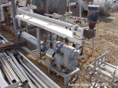"""USED: Chemetron Process Equipment Votator scraped surface heat exchanger. Top cylinder is 6"""" diameter x 10' long; the bottom..."""