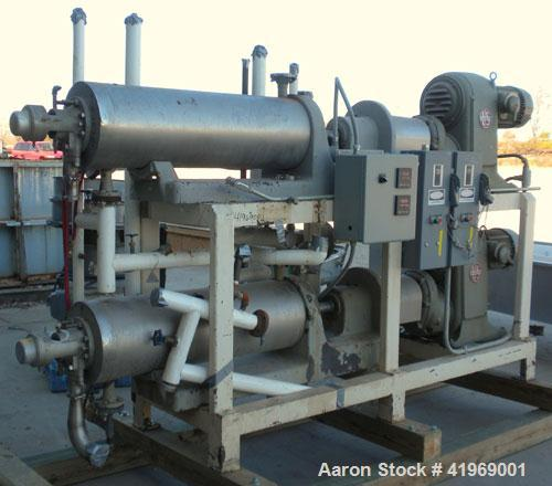 Used- Chemetron Votator Scraped Surface Heat Exchanger, 12 total square feet, 304 stainless steel. (2) Approximately 6'' dia...