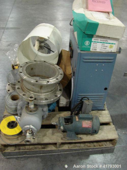 "Used-Cherry Burrell 10"" Turba Film Processor Evaporator Vota, model 10-028. Leroy Somer 7.5 hp motor with coupling safety sh..."