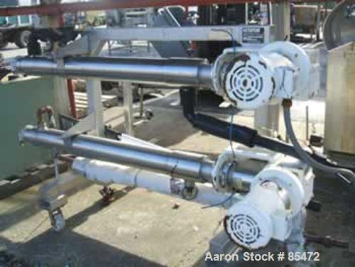 USED: Cherry Burrell dual chamber votator scraped surface heat exchanger, 9 square feet, model 4SSHE, 316 stainless steel. (...