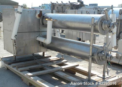 Used- Cherry Burrell Thermutator Scraped Surface Heat Exchanger, Model 672L, 316 stainless steel. Approximately 18 square fe...