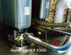 "Used- APV Crepaco Model 2HD672 Scraped Surface Heat Exchanger. (2) Barrels 6"" diameter x 72"" long, 9 square feet, 18 square ..."