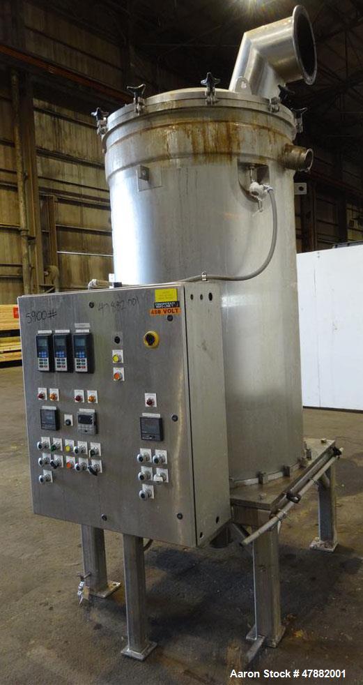 Used- GPE Groen DR Series Scraped Surface Heat Exchanger Evaporator, Model DR-36