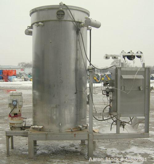 Used- Groen DR Series Scraped Surface Heat Exchanger/Evaporator. Approximately 150 square feet, 4000 pound an hour capacity,...
