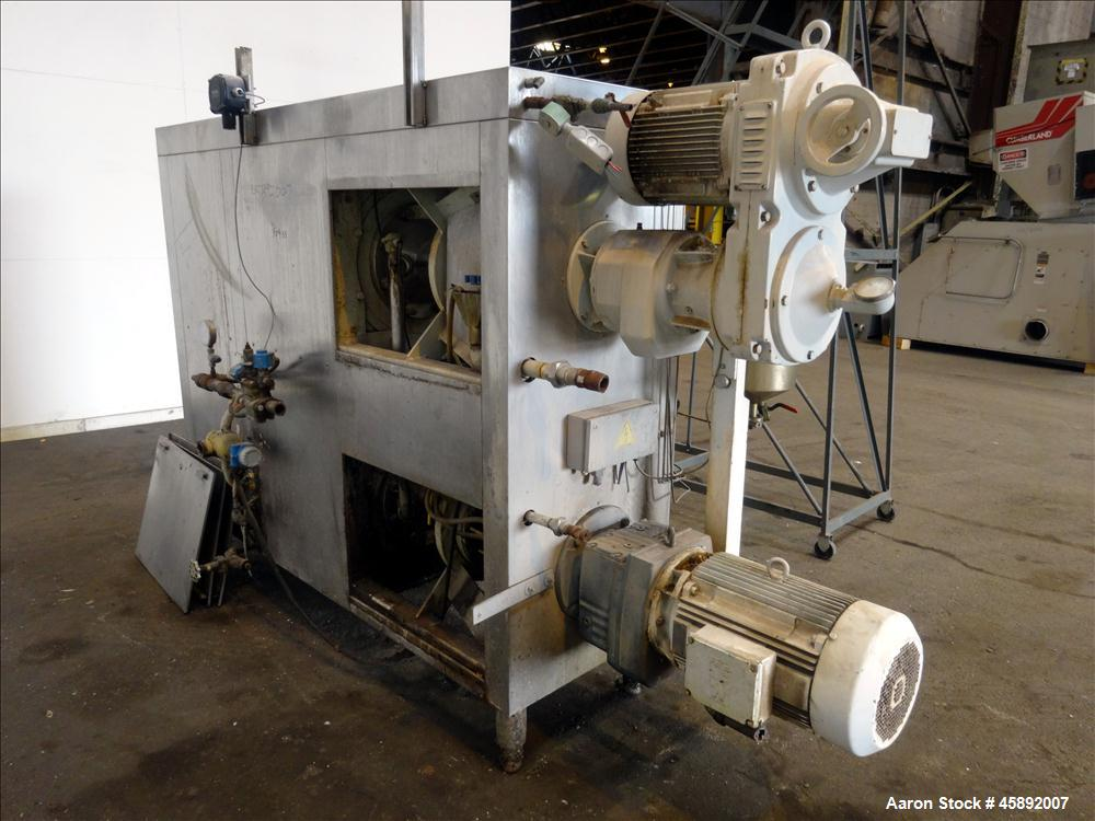 Used- Schroder Kombinator Twin Tube Horizontal Cold Extruder
