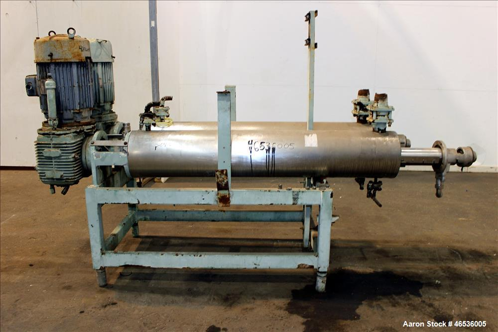 Used- Votator Scraped Surface Heat Exchanger, Model C02F21, Approximately 12 Total Square Feet, 304 Stainless Steel. Consist...