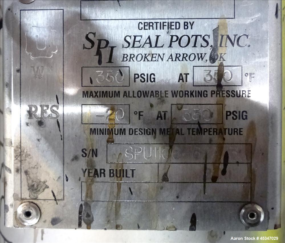 "Used- Stainless Steel Votator / SPX Votator II, 6"" x 72"" Scraped Surface Exchang"