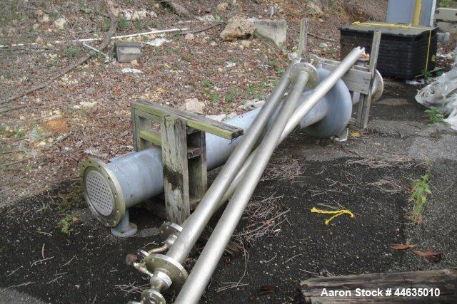 """Used- Atlas Heat Exchanger Shell and Tube Heat Exchanger, 127 sq ft Hastelloy C22 tubes and tube sheets with (65) .75"""" diame..."""